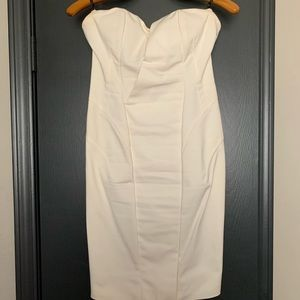 An elegant cream dress